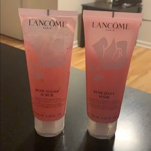 Lancome-rose-sugar-scrub-and-mass